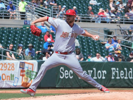 Memphis Redbirds pitcher Austin Gomber has won two