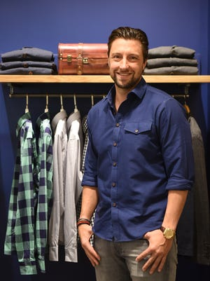 Chris Riccobono, co-founder of UNTUCKit, in the company's newest store at The Mall at Short Hills on Monday. The store is opening on Wednesday. Riccobono grew up in Franklin Lakes and attended Don Bosco Prep in Ramsey.