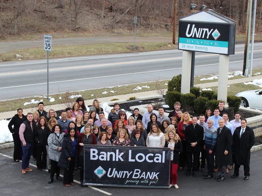 Unity Bank has been named one of the 2018 Best Places to Work in New Jersey in the small/medium category. A group of the bank's employees are pictured at Unity's Clinton headquarters.