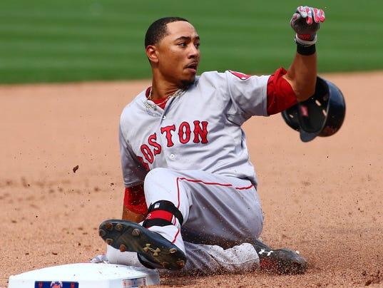 USP MLB: BOSTON RED SOX AT NEW YORK METS S BBA BBN USA NY