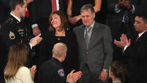 Parents of Otto Warmbier, Fred and Cindy Warmbier, are acknowledged during the State of the Union address in the chamber of the U.S. House of Representatives on Jan. 30, 2018, in Washington. On Dec. 24, 2018, a federal judge awarded them $500 million in a lawsuit against North Korea.