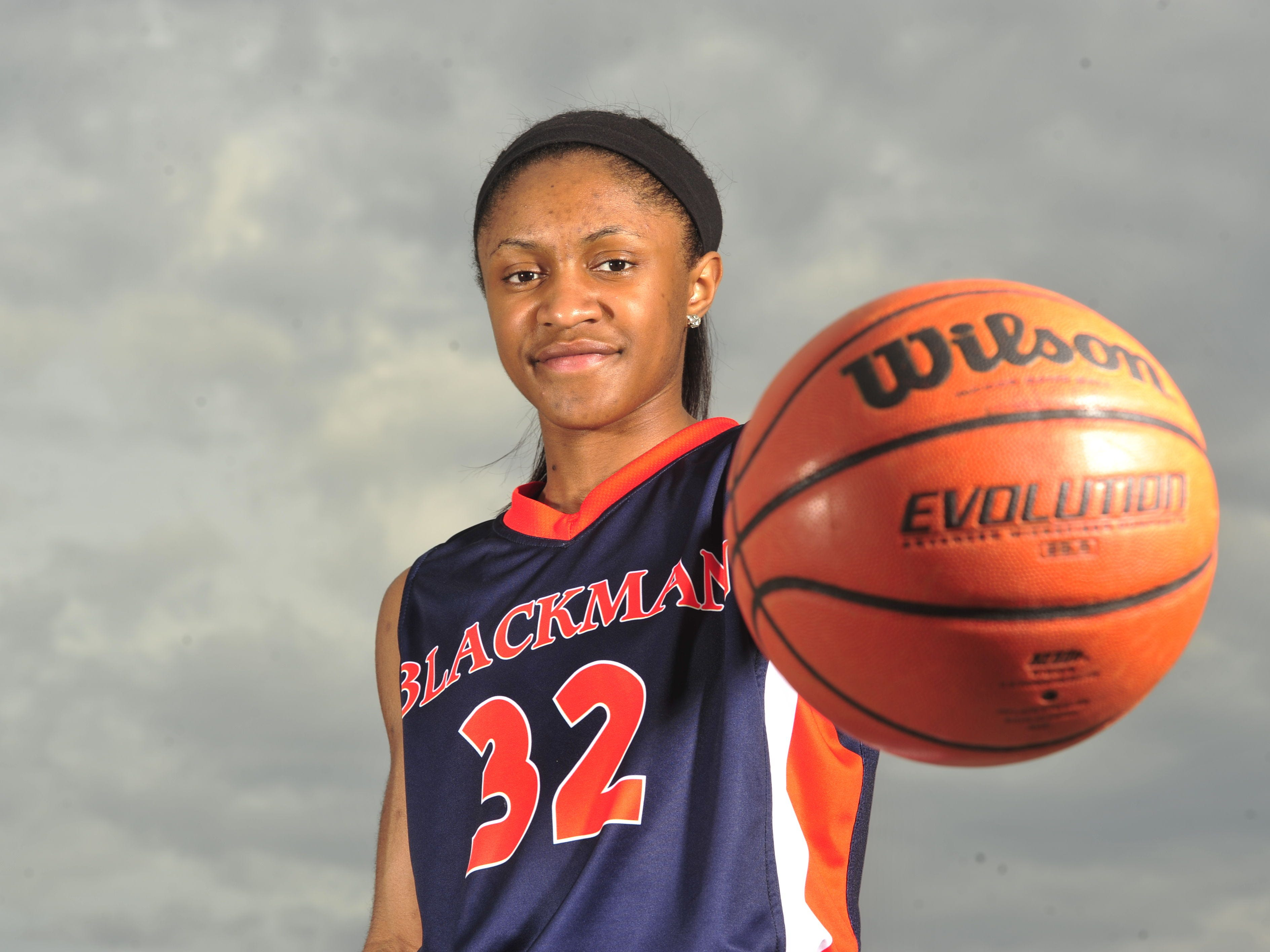 Crystal Dangerfield led Blackman to its second straight Class AAA state championship in March.