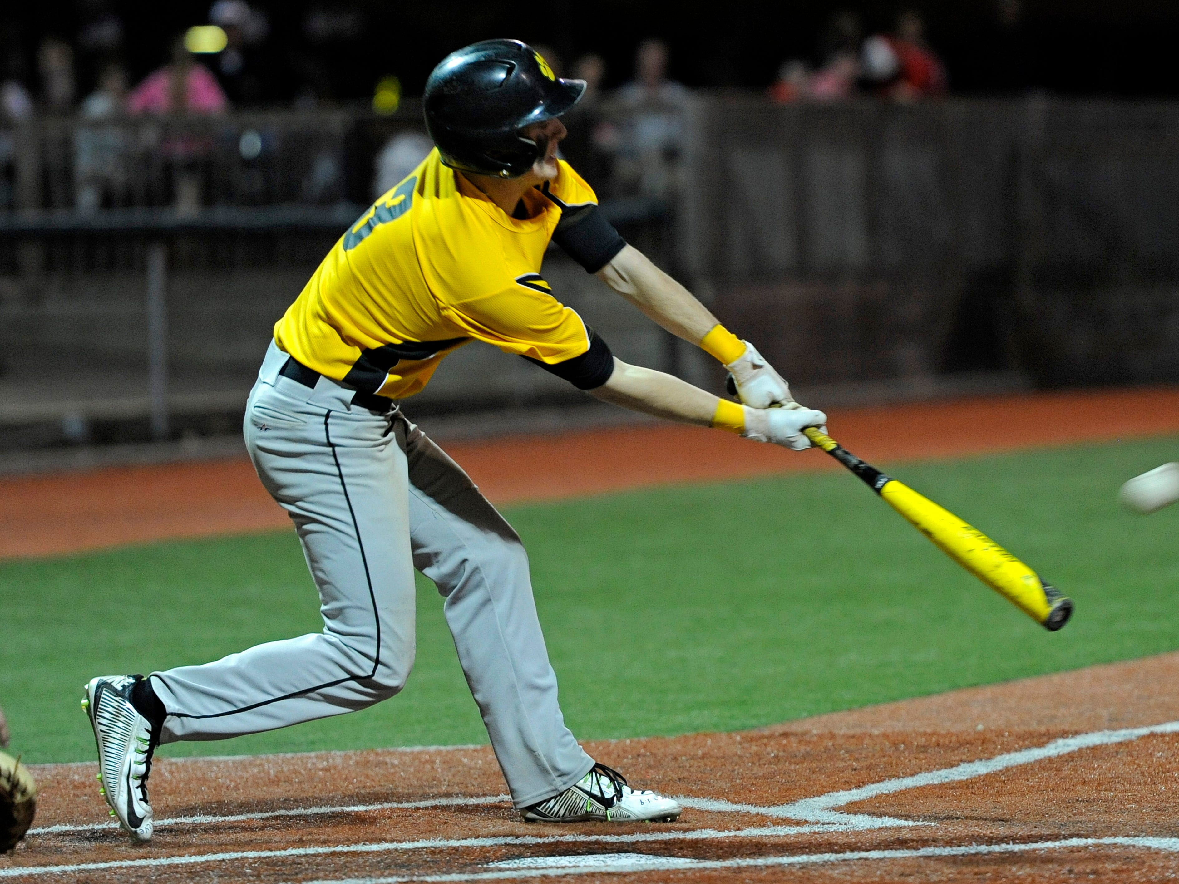 Paint Valley's Anthony McFadden bats during a game against Westfall at V.A. Memorial Stadium, earlier this season. McFadden was recognized as the 2015 SVC Baseball Player of the Year.