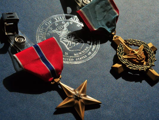 Air Force Cross/Double Silver Star ceremony