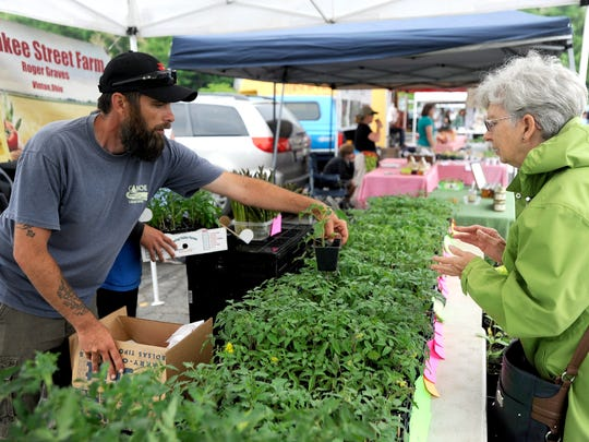 Gardeners were able to find plants in plenty at Saturday's