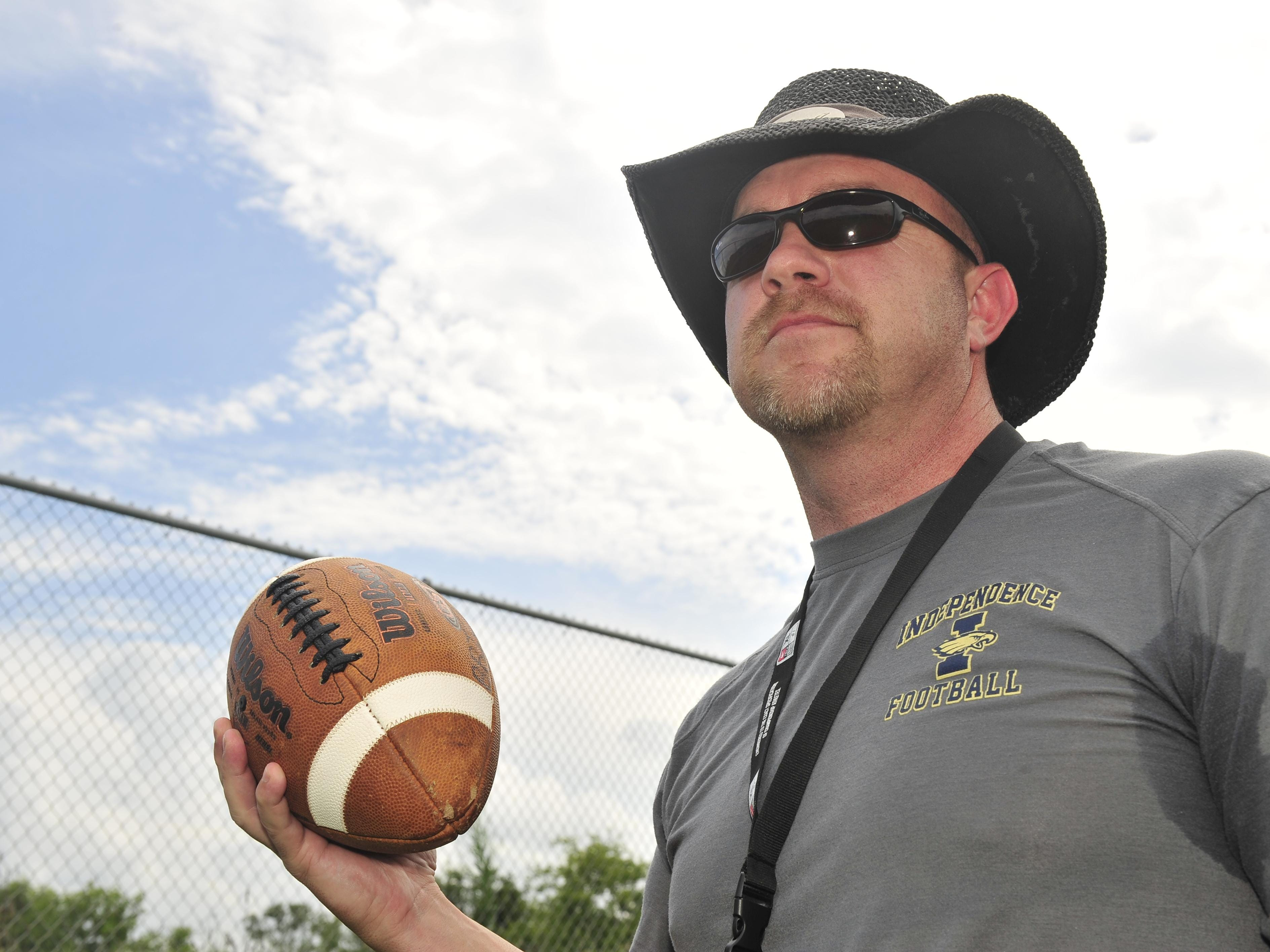 Independence football coach Scott Blade and his Eagles enter Friday with an 18-game win streak.