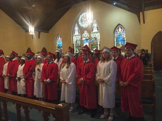 Paulsboro Grad's take part during the 2015 Baccalaureate at the St. Paul's United Methodist Church in Paulsboro.