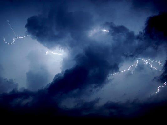 Lightning strikes early on September 12,