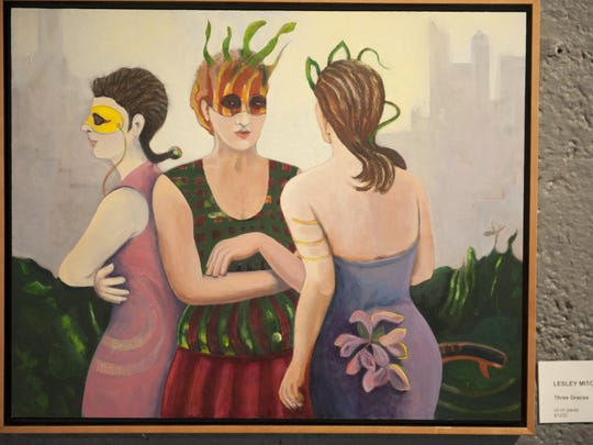 'Three Graces' by Lesley Mitchell is part of the 'Assemblage' display at Perkins Center for the Arts in Collingswood.