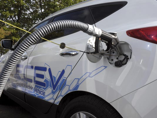 Picture shows the refuelling hydrogen sy