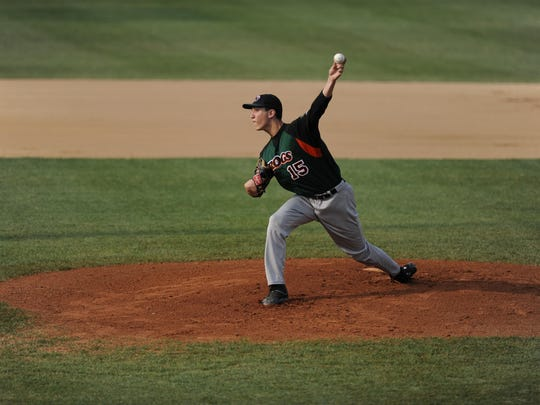 Green Bay Bullfrogs pitcher Garrett Harrison, ranked second in the Northwoods League entered play Wednesday with a 1.14 ERA. He'll be one of three Bullfrogs players competing in the league's all-star game on Tuesday.