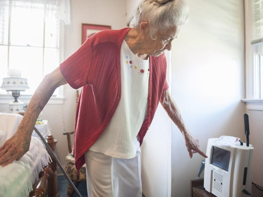 Bellmawr resident Betty Bupp uses a device called CardioMEMS to help manage her heart condition. Bupp is a Lourdes patient with a new technology that lets cardiologists monitor her heart from afar.