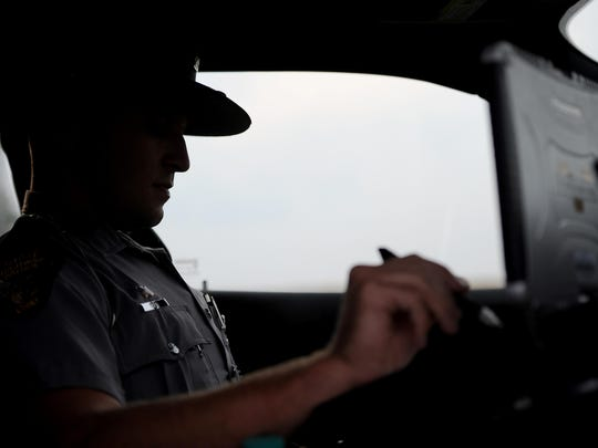 Ohio State Highway Patrolman Sam Davis issued cautions and tickets for speeding around Ross County on Wednesday. With the upcoming holiday weekend an increase in traffic on the roads means an increased presence of troopers on the roadways as well.