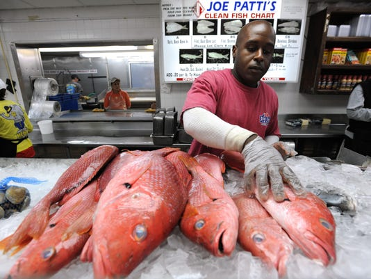 red snapper; Joe Patti's Seafood; Pensacola; Florida