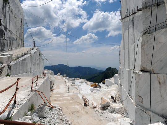 Carrera marble from the quarries in and around Pietrasanta is considered the best marble for sculpting in the world. This is the same marble Michelangelo used for sculptures such as David and the Pietà.