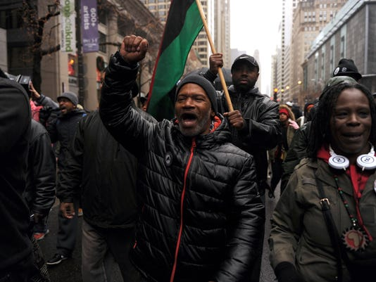 US-CRIME-RACISM-POLICE-PROTEST-CHICAGO,LEAD