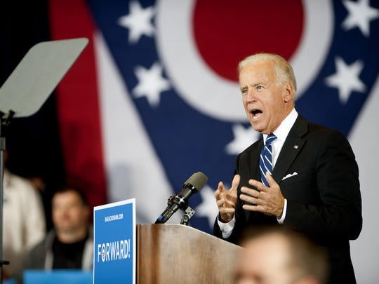 Vice President Joe Biden hosted a campaign rally Nov. 4, 2012, at Rushville Middle School.