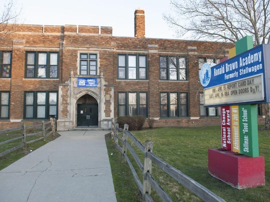 Water samples in 15 Detroit schools buildings, including the Ronald Brown Academy, had elevated lead levels.