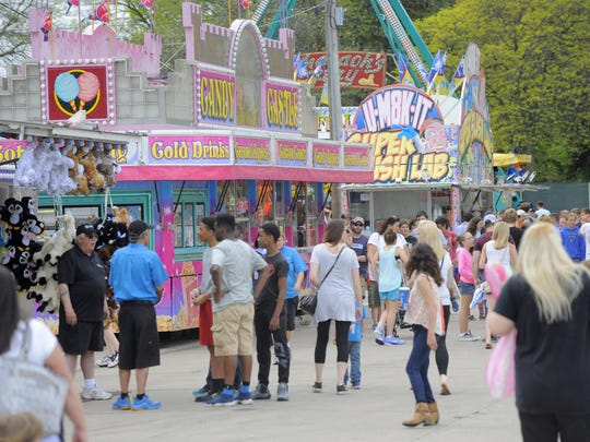 Crowds are seen, Friday May 20, 2016, during the St. Joan of Arch Spring Festival in St. Clair Shores.