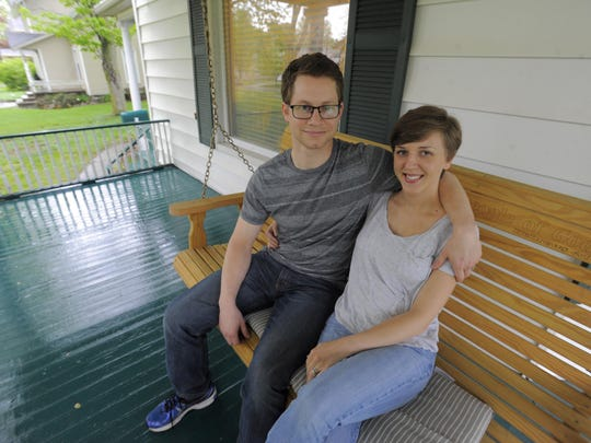 Soren Geiger, with wife Virginia, spent months on a church mission in Germany eight years ago before he felt ready to go to Hillsdale College.