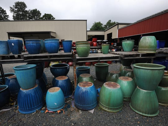 Colorful pottery at Corner Collection On Line.