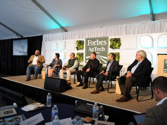 "Patrick Zelaya of Heavy Connect talks about how to make the city a better place during the ""Reinventing Salinas"" panel at the 2016 Forbes AgSummit on Thursday."