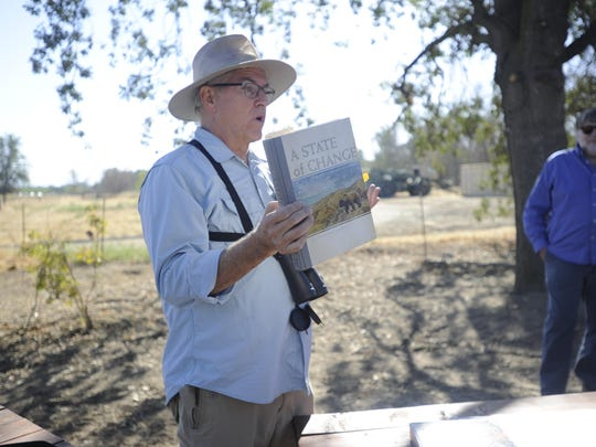 COS Professor, Robert Hansen, spoke at Kaweah Oaks Preserve's fire ecology event.