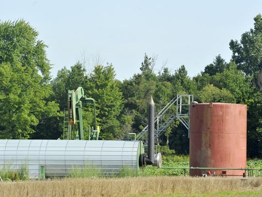 This active well just north of Leslie was recently