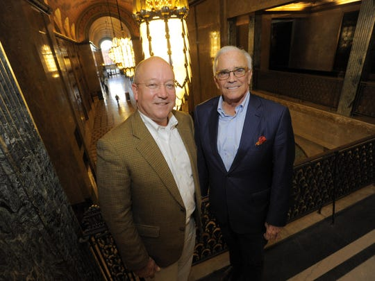 Dietrich Knoer, left, and Peter Cummings co-own the Fisher and Albert Kahn buildings that will get an estimated $100 million investment.