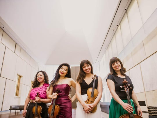 Aizuri Quartet has a residence at Cornell this weekend.