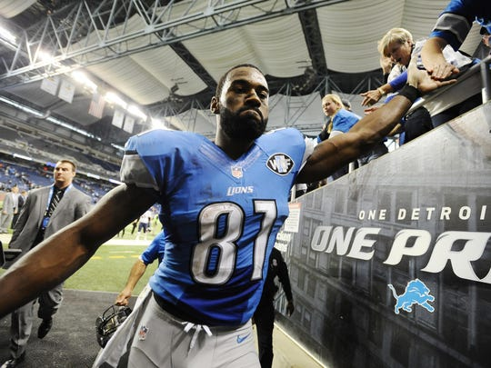 Wide receiver Calvin Johnson played nine seasons with the Lions.