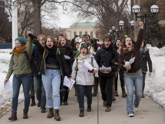 Michigan lawmakers just referred a proposal to that state's House Committee on Judiciary that allows for peaceful protest and the distribution of literature on public college campuses, Butcher writes.
