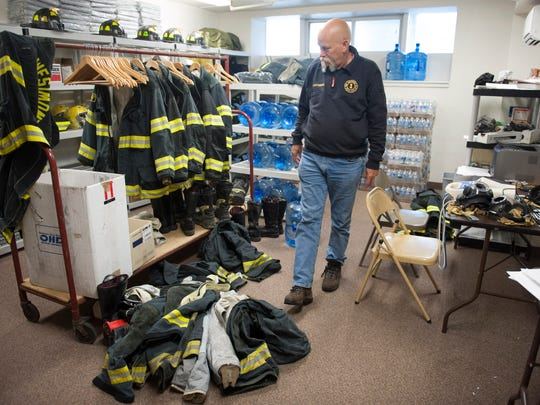 Fire Commissioner Hank Voigtsberger walks through the office at the Westmont Fire Station. Haddon Twp.'s Fire District 1 plans to purchase an ajacent property on Haddon Ave. for some much needed office space. Friday, May 2, 2014.