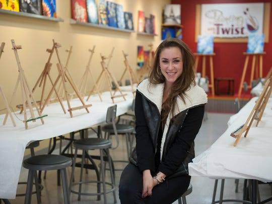 Danielle Martin, Co-owner, Painting with a Twist in Haddonfield. For storefront. Tuesday, November 18, 2014.