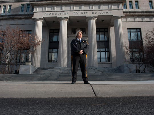 Kim Reichert, a 24-year veteran of Gloucester County law enforcement, was sworn in Wednesday as the Sheriff department's first-ever captain — the highest civil service (non-appointed, non-elected) department official. Friday, January 23, 2015.