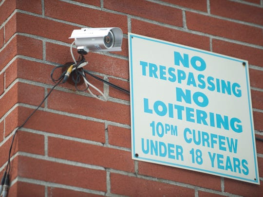 Surveillance camera at the Lynnebrook Gardens Apartment complex in Lindenwold. Lindenwold police have set up a registry for homeowners and businesses to share the contents of surveillance cameras in case video is needed in solving a crime. Thursday, January 29, 2015.