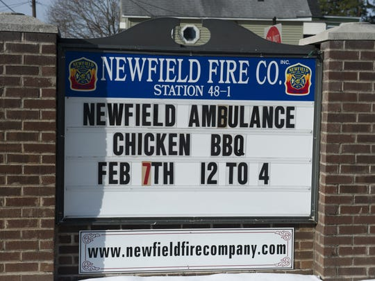 Newfield Municipal Building and Fire Company. Thursday, January 29, 2015.