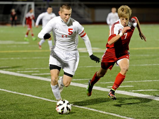Zane Trace's Eric Hutton, boys soccer player of the year.