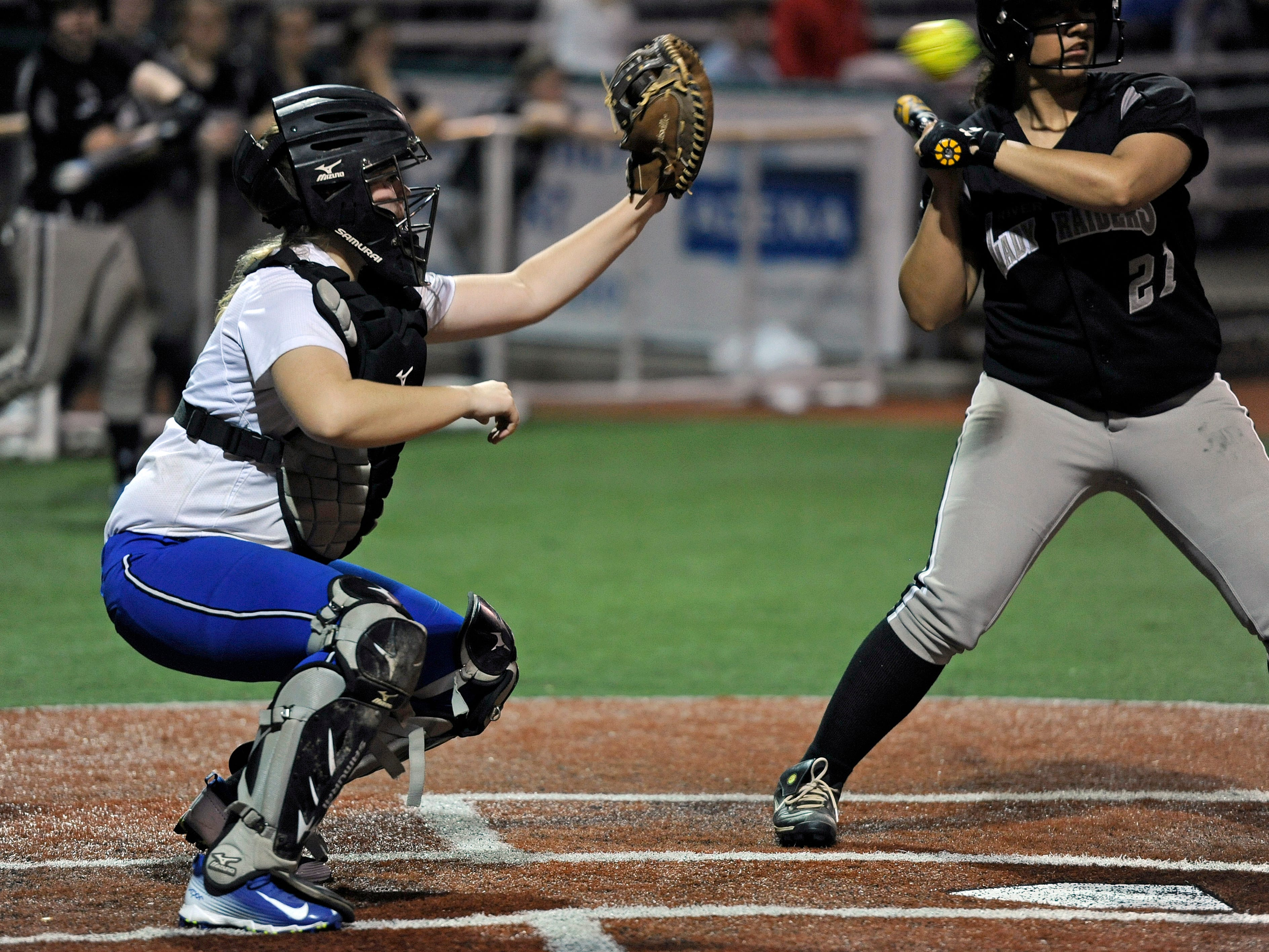 Chillicothe's catcher, junior Haylee Jo Large, goes into play next week with a .650 batting average.