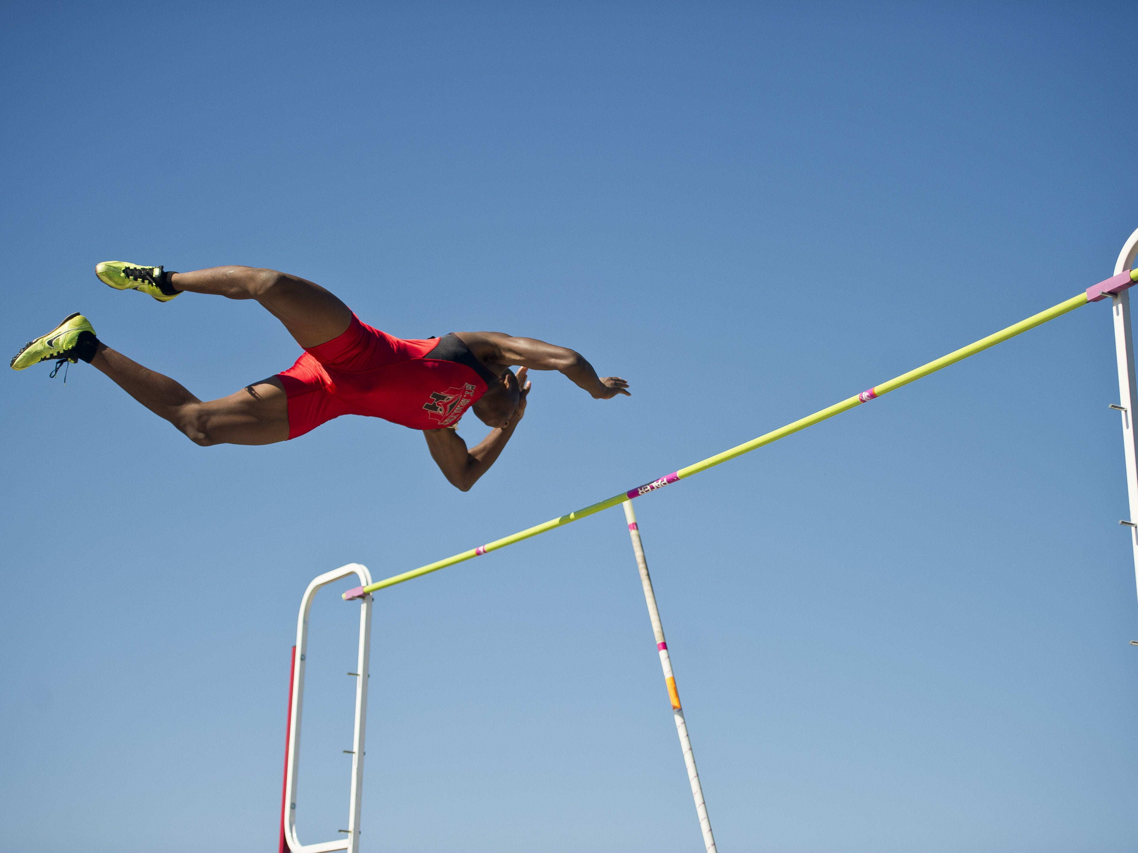 Mt. Healthy pole vaulter KeAndre Smith was a second-team all-Southwest Ohio Conference performer last year.