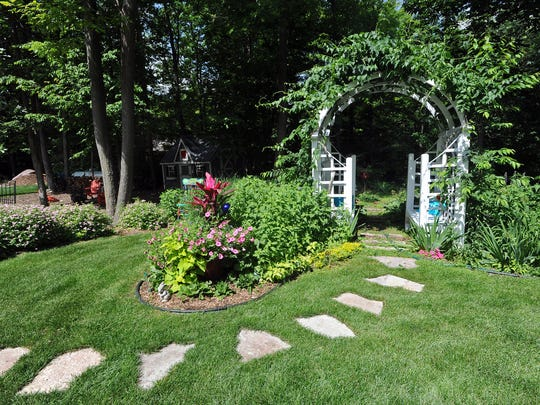 The garden of Mary Zimmerman is one of several in the Agnesian HealthCare Foundation Garden Walk & Art Fair.