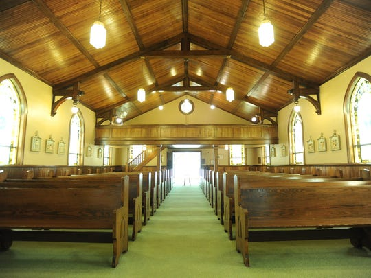 The inside of St. Brendan church in Brandon. The small community parish is another victim of the lack of priests, parishioners and funding.