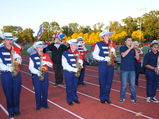 The John Glenn marching band entertained a packed house at this year's Homecoming football game.