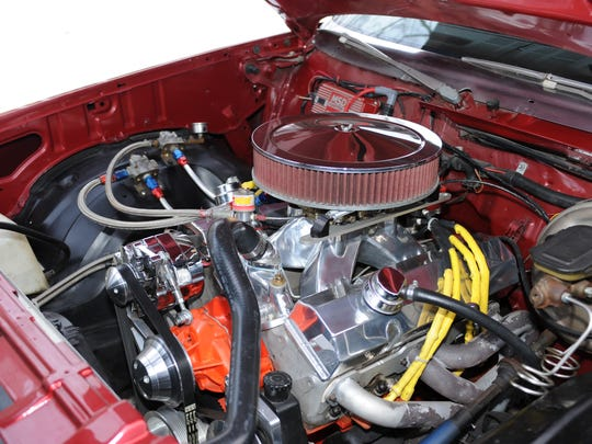The 1980 Malibu is powered by a 421-cubic inch small