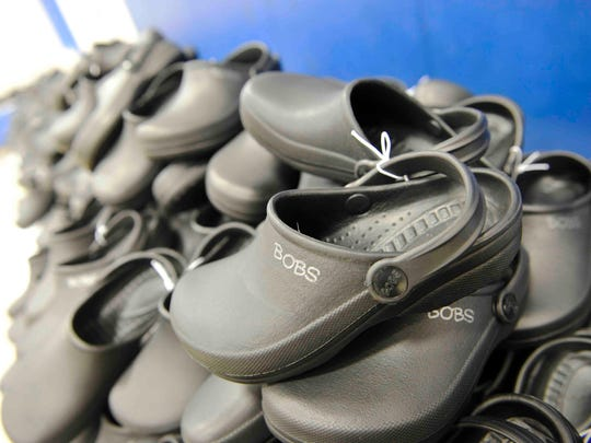 More than 200 children at Whitsitt Elementary in Nashville were recently outfitted with Sketchers Bobs distributed through Soles4Souls.