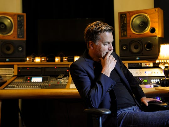 Michael W. Smith sits in his recording studio in Franklin. An all-star tribute to Smith is set to take place April 30 at Bridgestone Arena