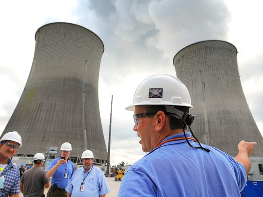 Mike Skaggs, TVA's senior vice president for nuclear construction and operations, gives a tour of the Watts Bar reactor in Spring City, Tenn.
