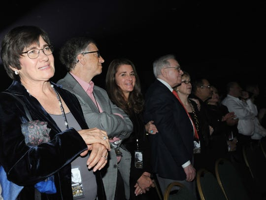 Bill Gates and wife Melinda at the Paul Anka show at Fantasy Springs Resort and Casino in Indio.