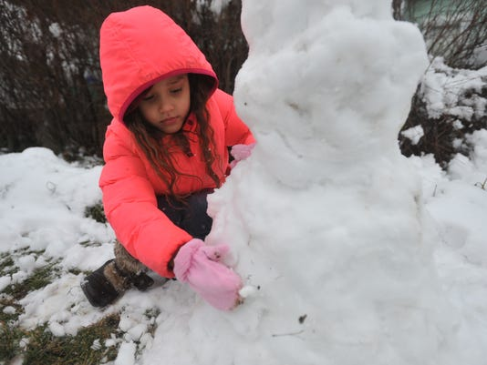Creating a snowman in Richmond