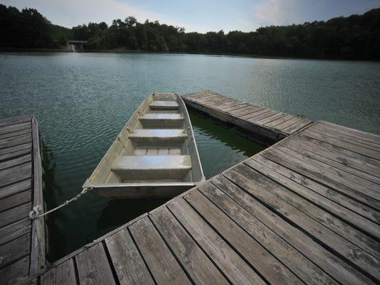 Brookville Lake, row boat